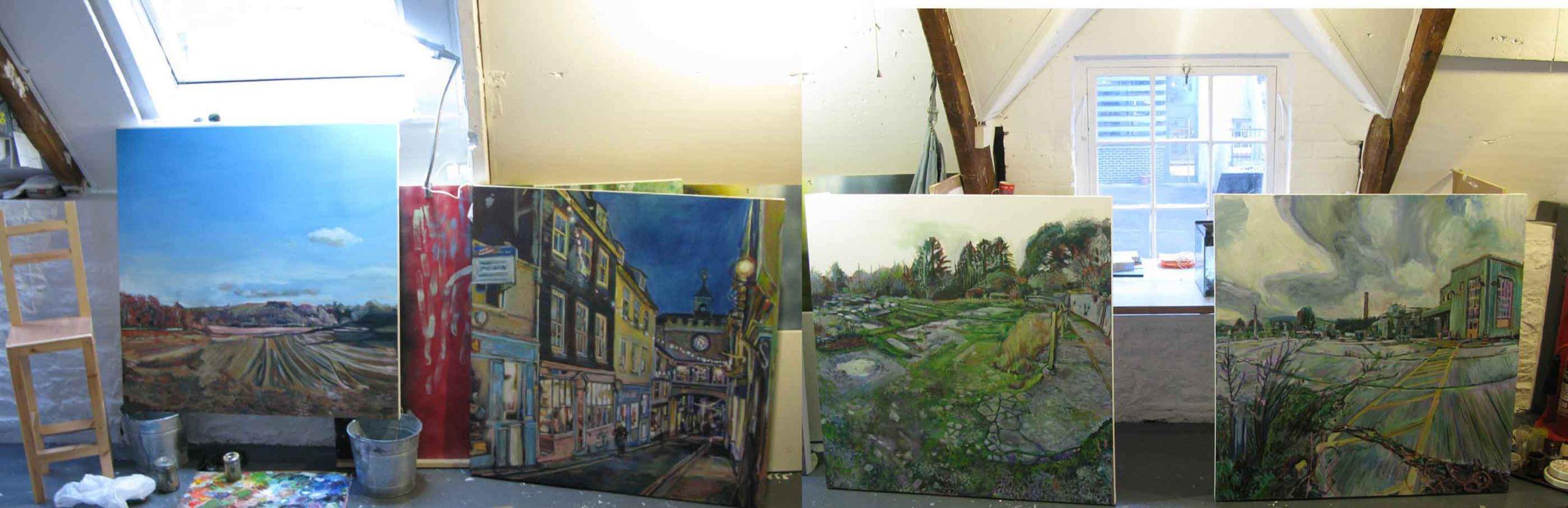 Montage of Noel Hefele Paintings
