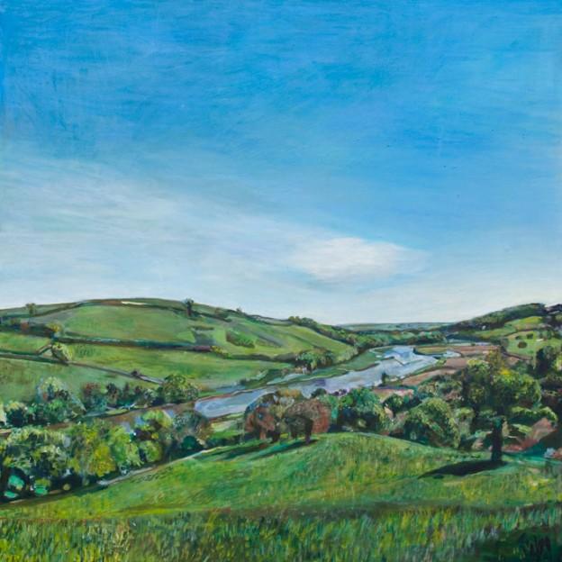 Oil Painting of the Dart River by Noel Hefele
