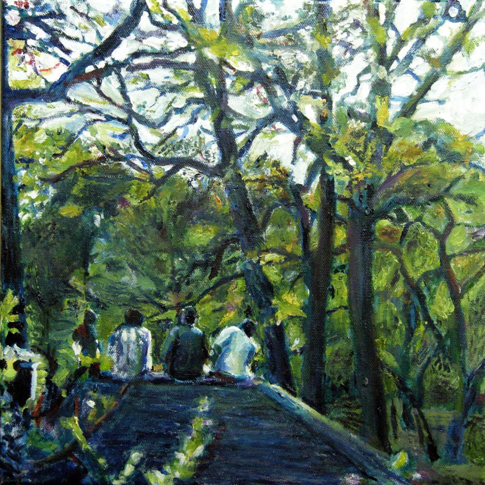Oil painting of Prospect Park by Noel Hefele