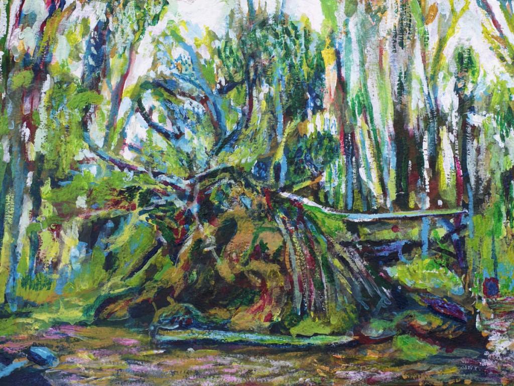 Uprooted painting by Noel Hefele