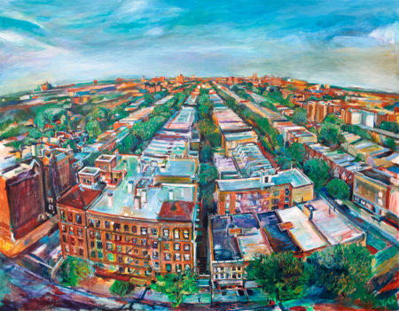 Oil painting of Flatbush by Noel Hefele