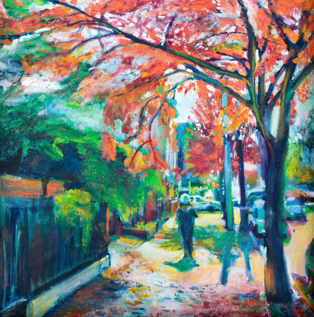 Painting of bedford ave by Noel Hefele