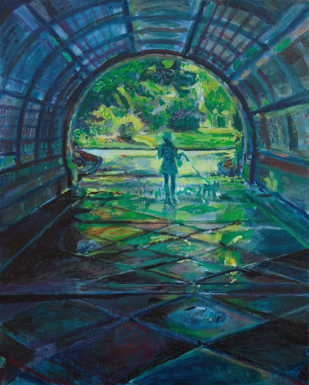 Painting of Prospect Park Cleft Ridge Arch by Noel Hefele