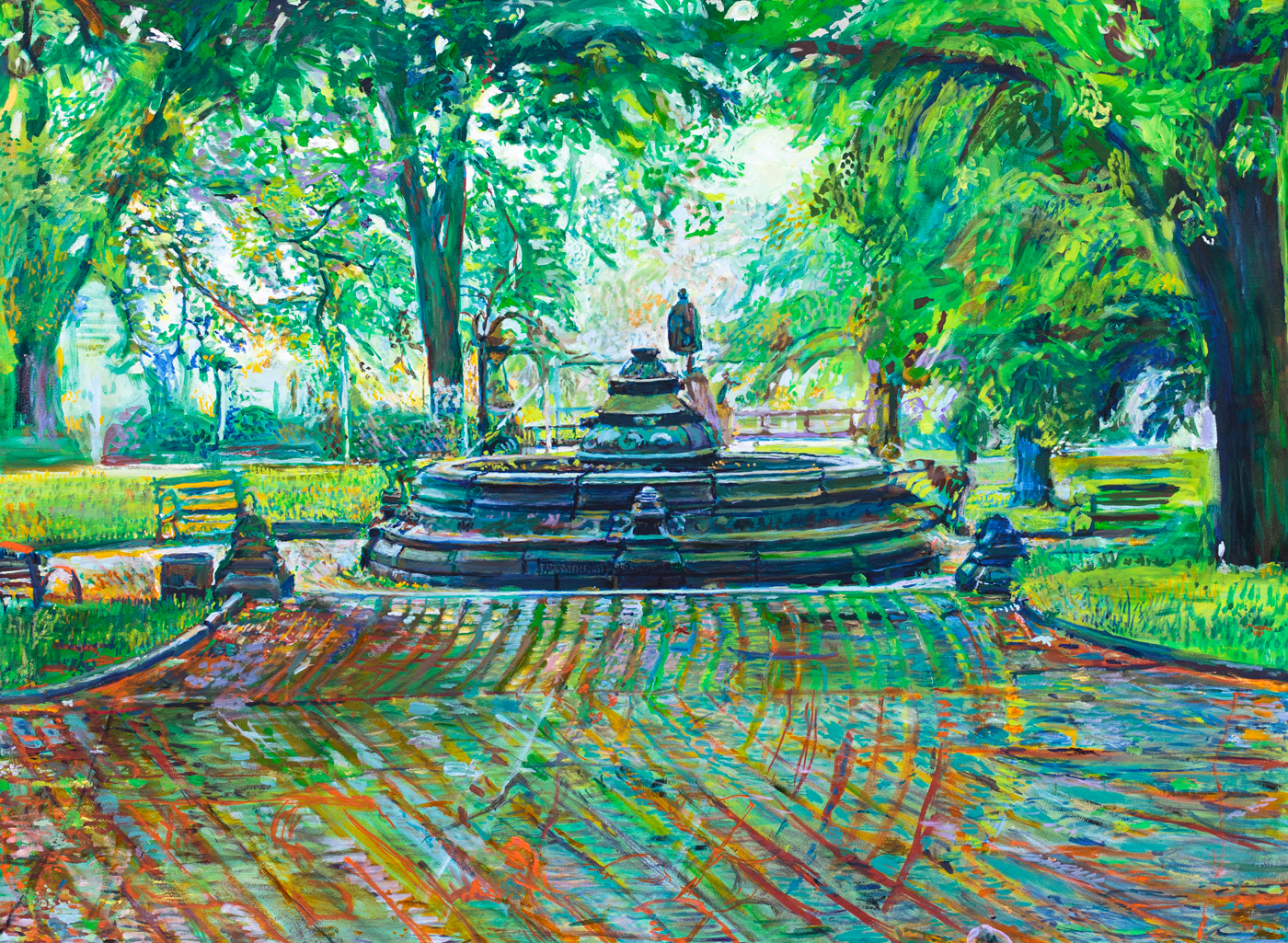 Painting of the Prospect Park Concert Grove by Noel Hefele
