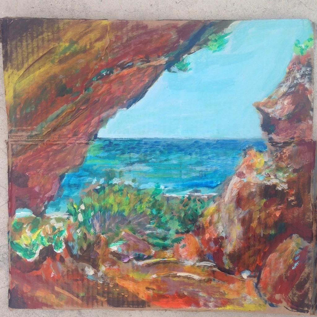 Barbuda Two Foot Bay Painting by Noel Hefele