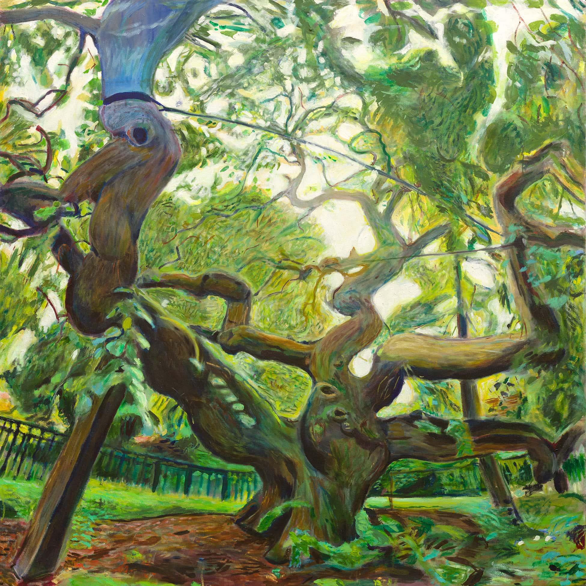 Camperdown Elm oil painting by Noel Hefele