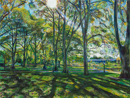 painting of prospect park by noel hefele