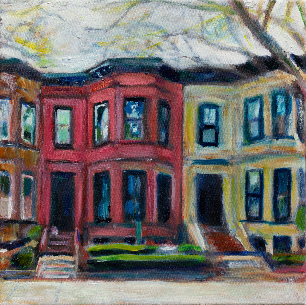 Brooklyn Brownstones oil painting by Noel Hefele