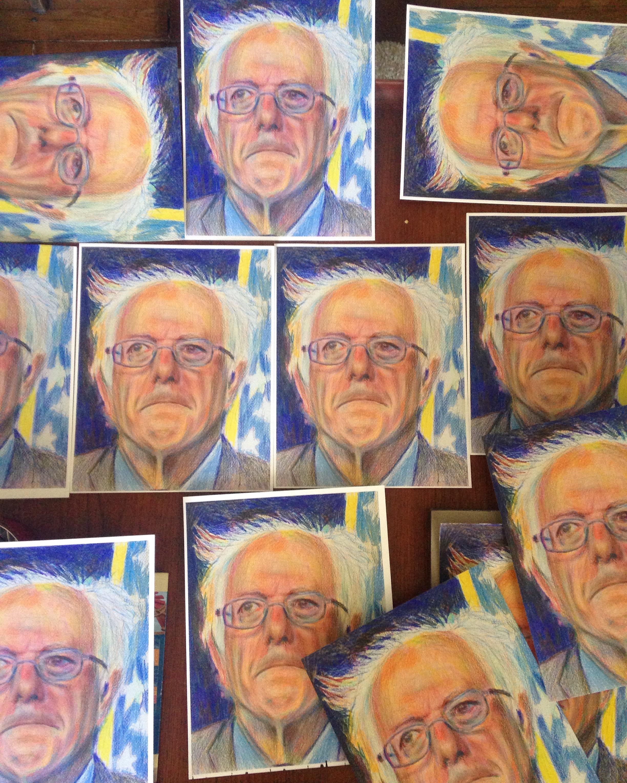 Bernie Sanders Artwork by Noel Hefele