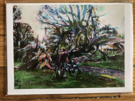 Fallen Tree from Sandy Greeting Card
