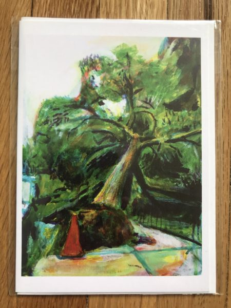 fallen street tree greeting card