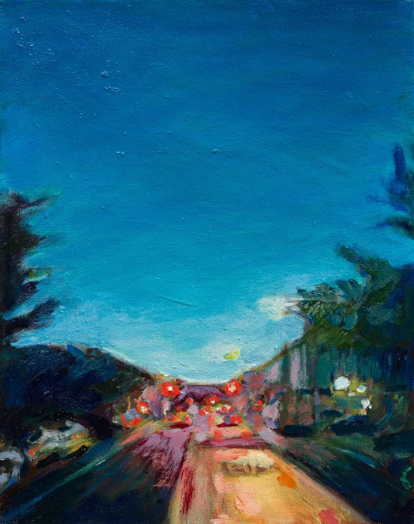 Rogers at Dusk Brooklyn oil painting noel hefele